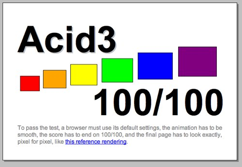 Acid test 3 en Safari 4 Mac OS
